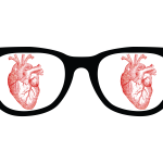 I Heart Glasses, I Love Glasses, glasses, heart, illustrator, vector, design, fun, dark